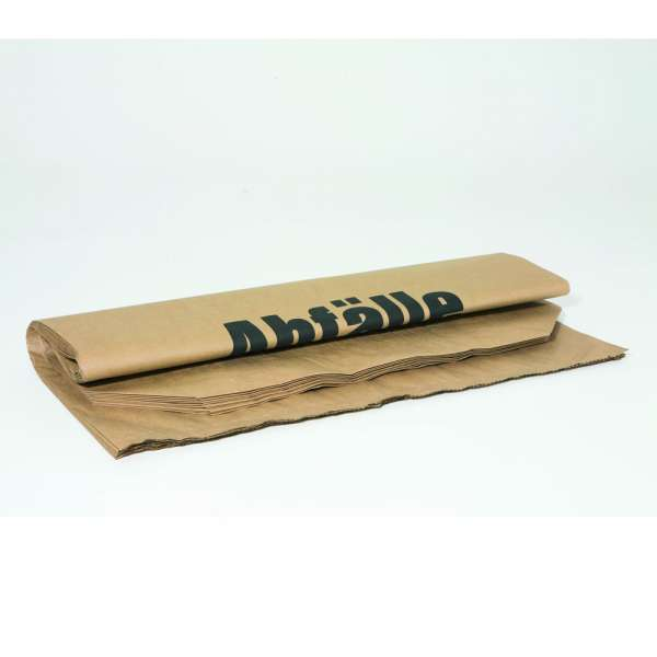 Gartenabfallsack Papiermüllsäcke Bioabfallsack, 120 Liter, 2-lagig, 25 Stück