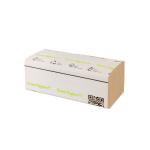 Vorschau: graues Falthandtuch günstig ohne Plastik in Papierbanderole