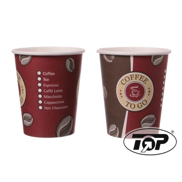 """Kaffeebecher beschichtet """"Cafe to go"""" 200 ccm"""