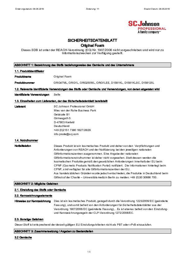 Sicherheittsdatenblatt ORG1L