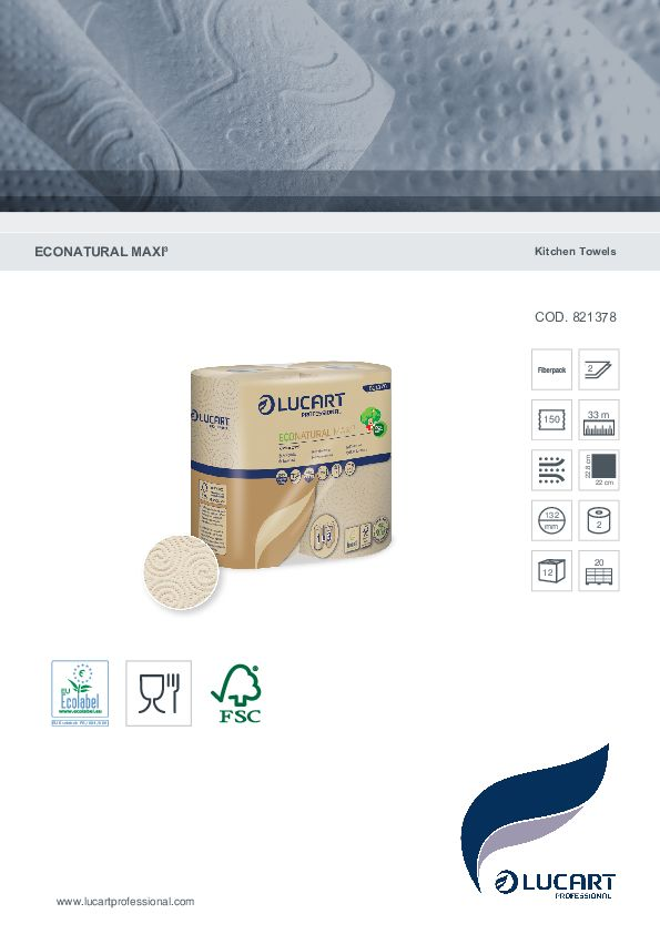 Datenblatt EcoNatural Küchenrolle Maxi