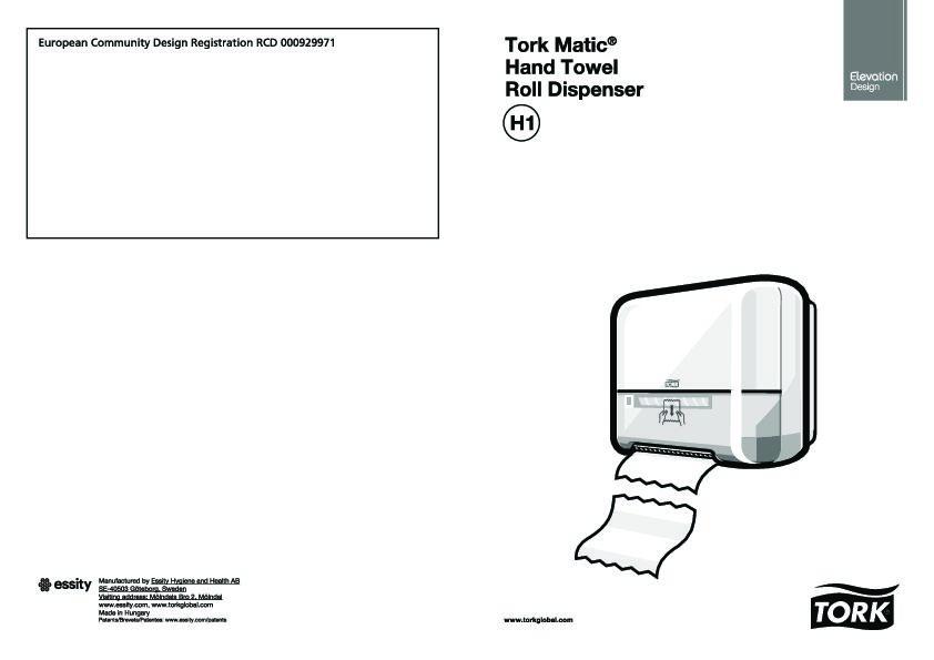 Montageanleitung Tork Matic H1 Rollenspender